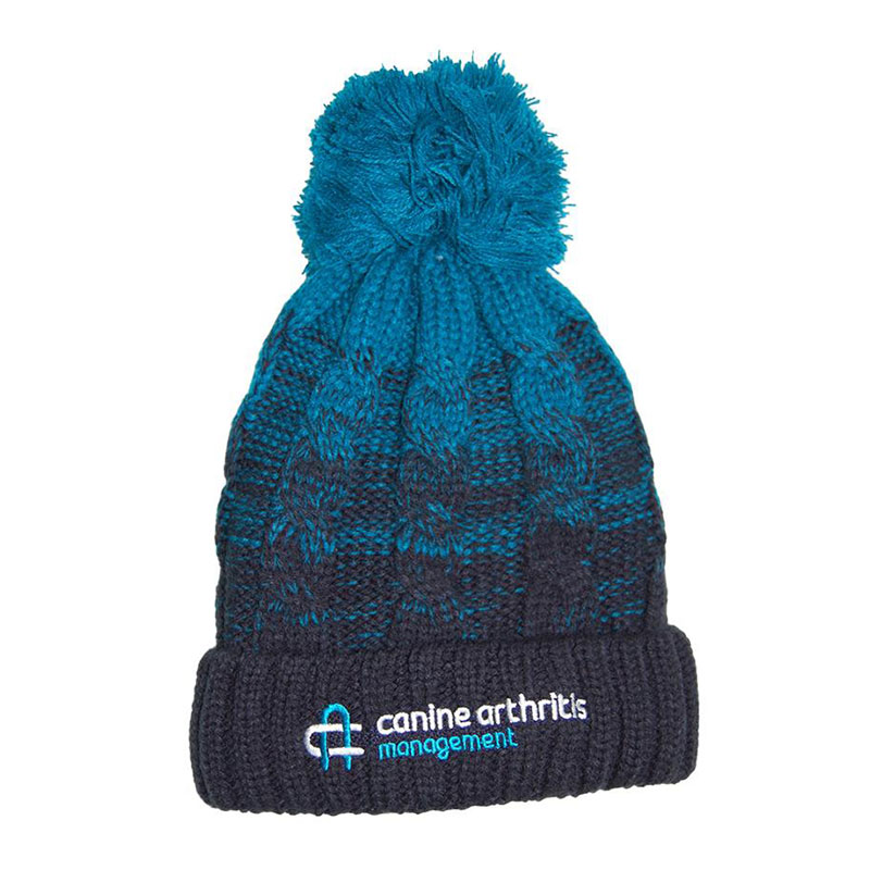 CAM Luxury Cable Knit Bobble Hat