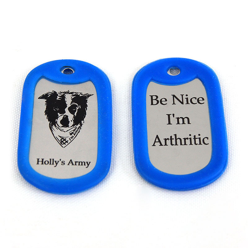 Hollys Army Dog Tag Blue