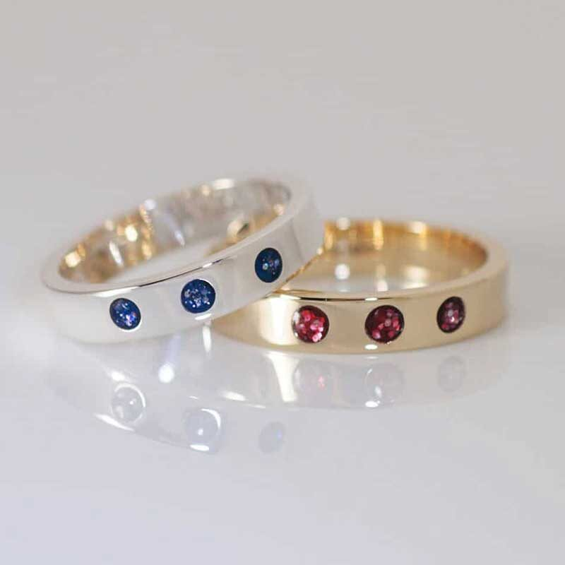 Crystallure Band Memorial Ring