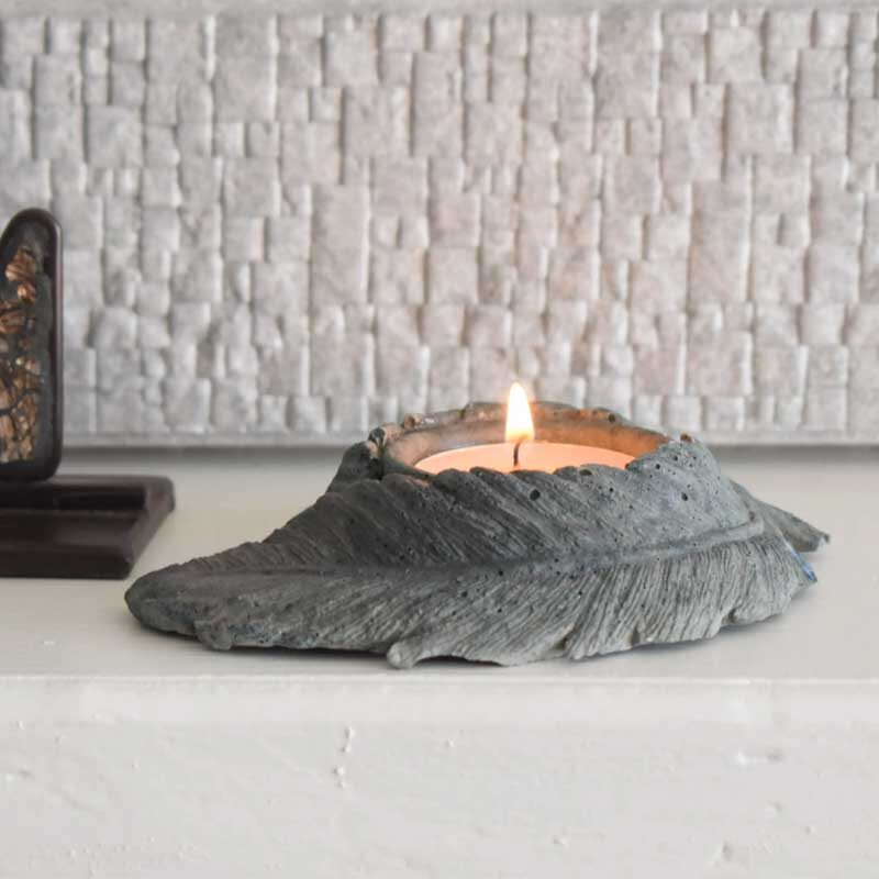 Commemorative Memorial Tealight Holder With Inclusion
