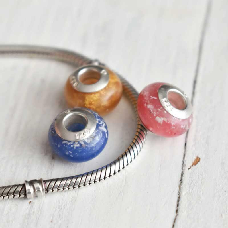 Handmade Pandora Style Bead With 925 Silver Core