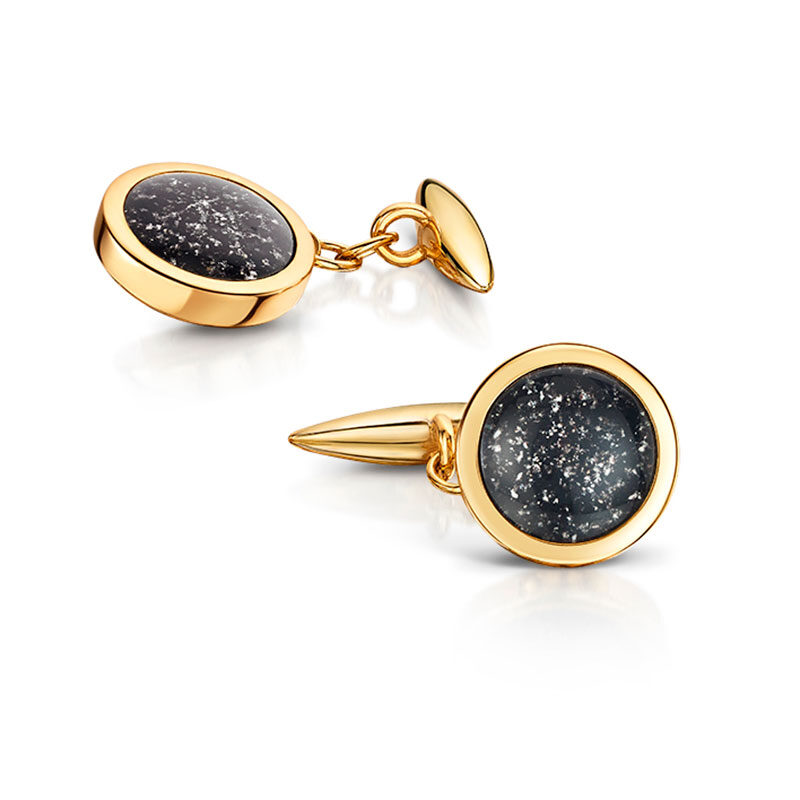 Cufflinks Ashes into Glass